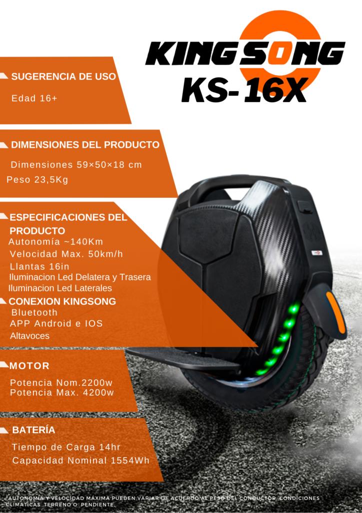 monociclo electrico KS-16X