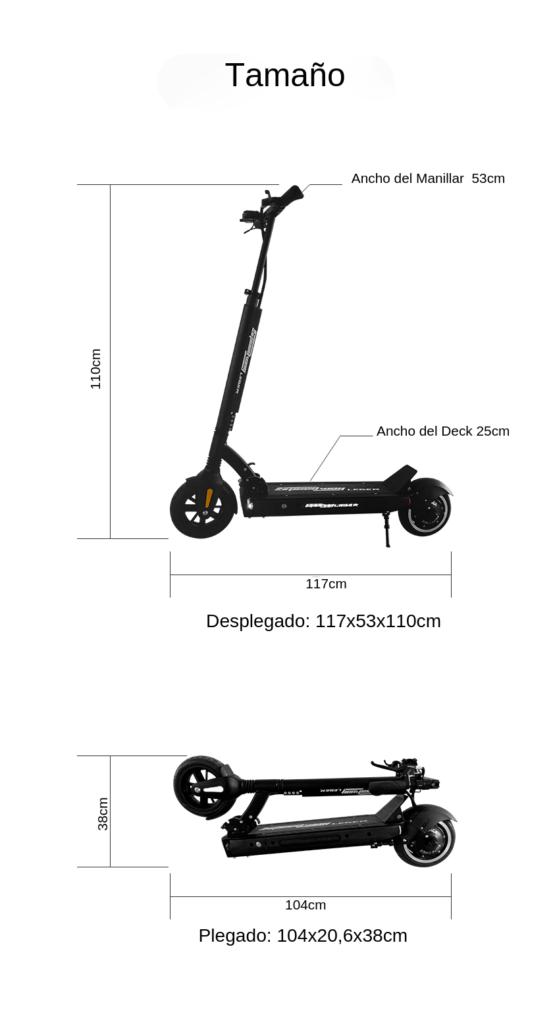 Dimensiones de scooter electrico speedway leger